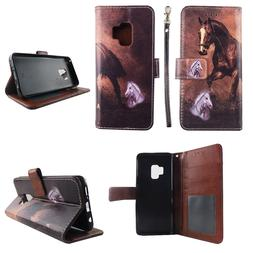 Wallet Case for Samsung Galaxy S9 Plus Split Leather Card Id