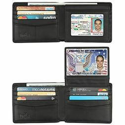 Genuine leather wallet for men RFID Blocking Bifold Stylish