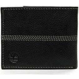 Timberland Men's Wallet Genuine Leather Pebble Grain Stitch