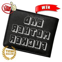 Wallet With Zipper Coin Pocket Bad Mother Boys Wallet Card H