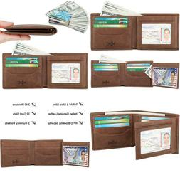 Wallets For Men - Rfid Blocking Trifold Genuine Leather Wall