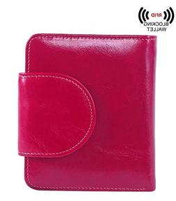 Wallets Women's Small Billfold Genuine Leather Tri-Fold With