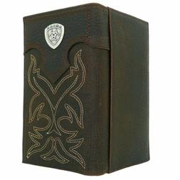 Ariat Western Mens Leather Boot Stitched Embroidery Wallet C