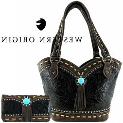 Western Style Handbag Concealed Carry Purse Women Country Sh