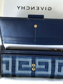 Givenchy Woman Denim Blue Wallet *100% authentic Brand new i