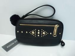 STEVE MADDEN Woman's Wallet/Wristlet *Black/Gold Stud Clutch