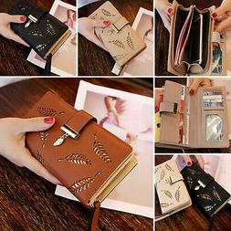 Women Lady Clutch Leather Wallet Long Card Holder Phone Case