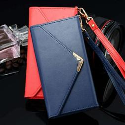 Women Leather Envelope Wallet Phone Case For iPhone 11 Pro X