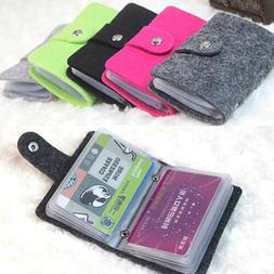 Women Men PU Leather Business ID Credit Card Holder Case Wal