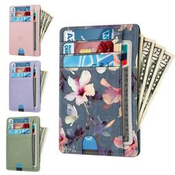 Slim Wallet Secure Men Women RFID Blocking Money Credit Card