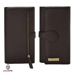 Estalon Women RFID Blocking Real Leather Trifold Wallet - Cl