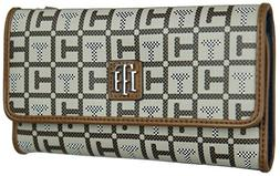 Tommy Hilfiger Women's Double Zip Around Wallet, Wristlet