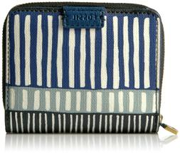 Fossil Women's Emma RFID Mini Multifunction Wallet, Navy Str