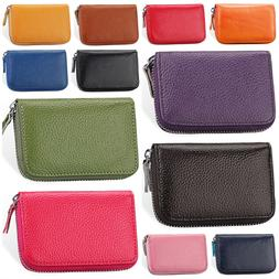 Women's Genuine Leather Credit Card Holder Accordion Style Z
