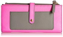 Fossil Women's Jayda TAB Wallet, Pink/Multi, One Size