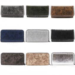 LeahWard® Women's Synthetic Leather Chain Flap Purses Walle