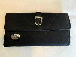 American Tourister Women's Wallet NEW Black Quilted Textile