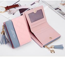 Women Short Wallets Small Bifold Leather Pocket Wallet Mini