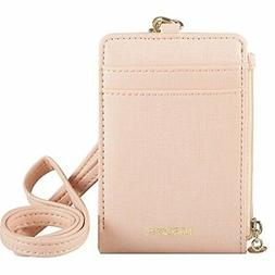 Indressme Womens Cute Candy Color Bifold ID Badge Holder wit