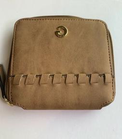 Guess Women's small Money wallet Brown NWT