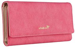 Travelambo Womens Wallet Faux Leather RF