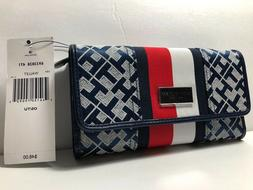 TOMMY HILFIGER WOMENS WALLET TRIFOLD CHECKBOOK WALLET SNAP C