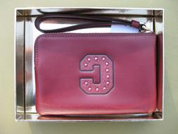 COACH Wristlet Leather Wallet Coin Purse in BOX New Signatur