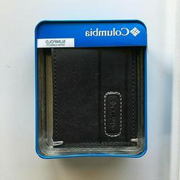 Columbia X-Capacity Security Black Leather Wallet Slimfold R