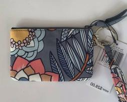 Vera Bradley Zip ID Case and Lanyard Tropical Evening